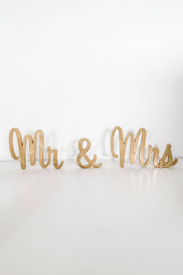 Gold Mr & Mrs Letters