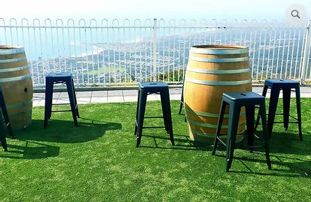6 Wine barrel + 18 bar stool cocktail seating package