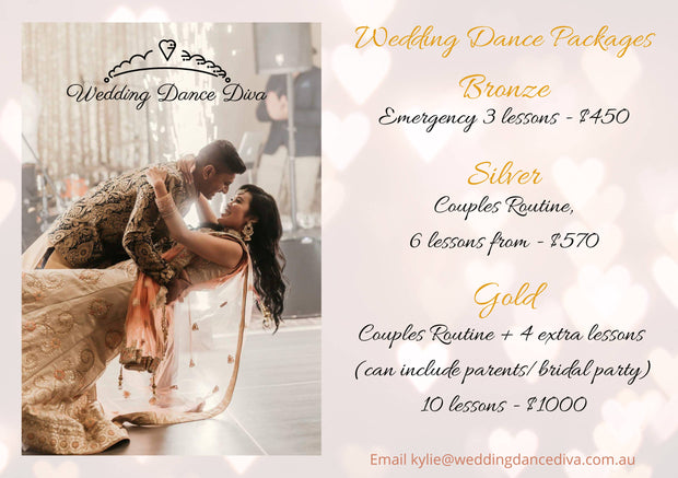 Gold Wedding Dance Package