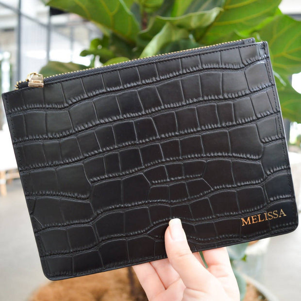 The Standard Pouch (Croc Leather)