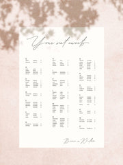 Baci Seating Chart