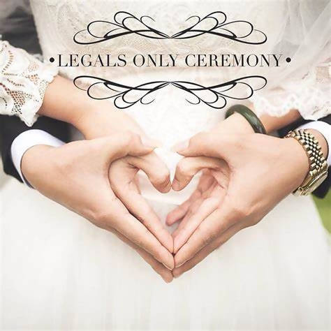 Legals only Wedding Ceremony
