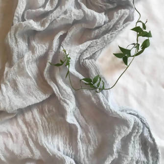 Dove Grey Muslin runner