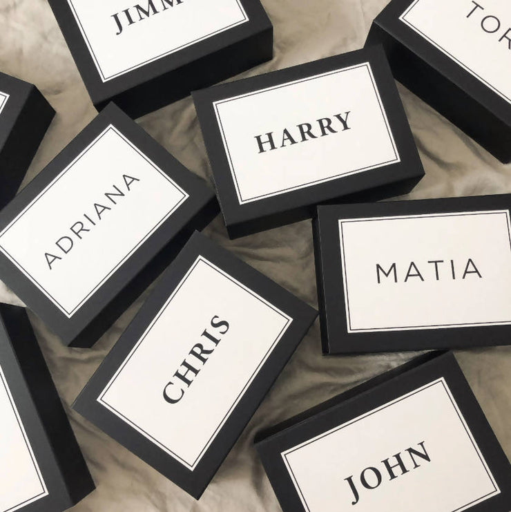 Personalised Noir Gift Box