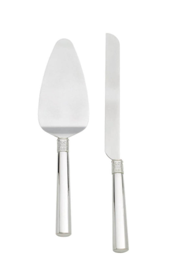 Vera Wang Silver Cake Server Set