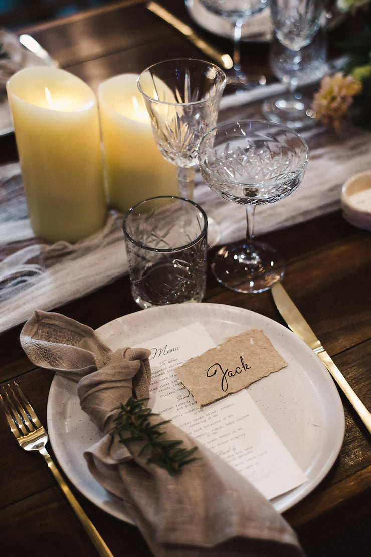 ASHLEIGH Deckle edge place cards