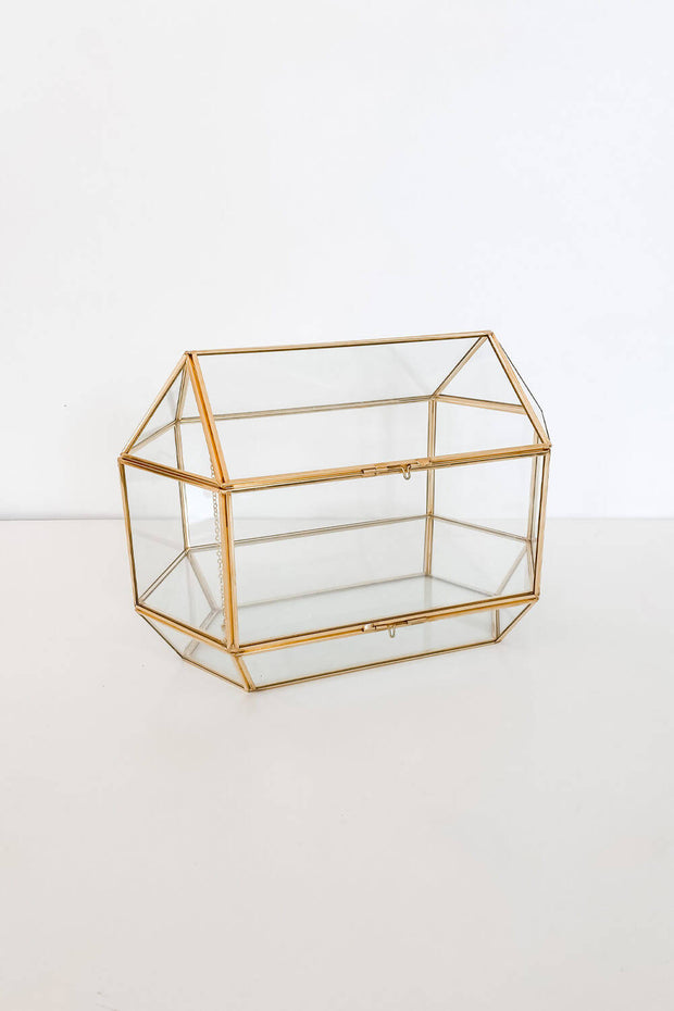 Glass Geometric Cards Box