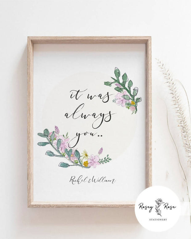 Wedding Sign A3 Template - Wildflowers