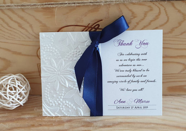 Handmade Crafted Thank You Card