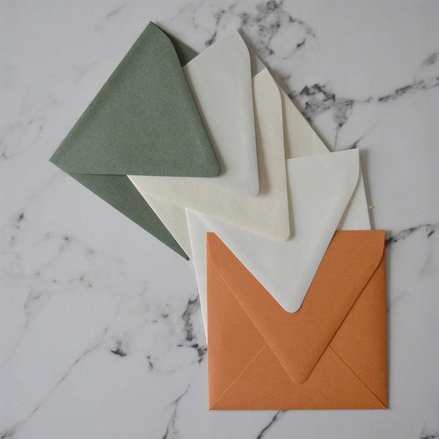 Square 150mm Wedding Invitation Envelopes Euro Flap