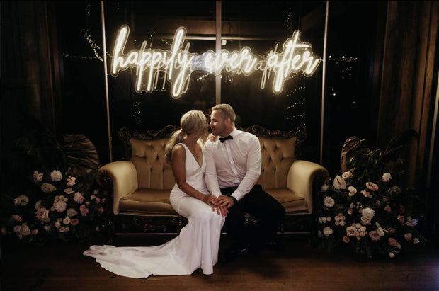 HAPPILY EVER AFTER NEON 2 METERS LONG WARM WHITE NEON