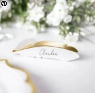 Feather Place Cards | 10Pk