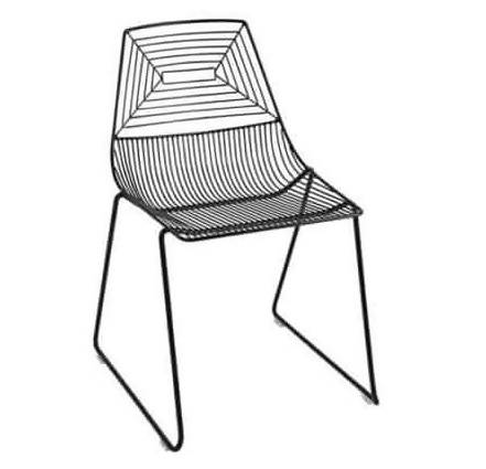 BLACK WIRE CHAIR