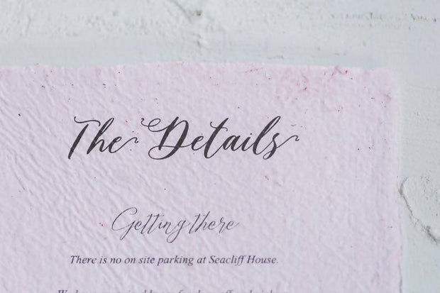 SYBIL | Pink Deckle edge Invitation suite