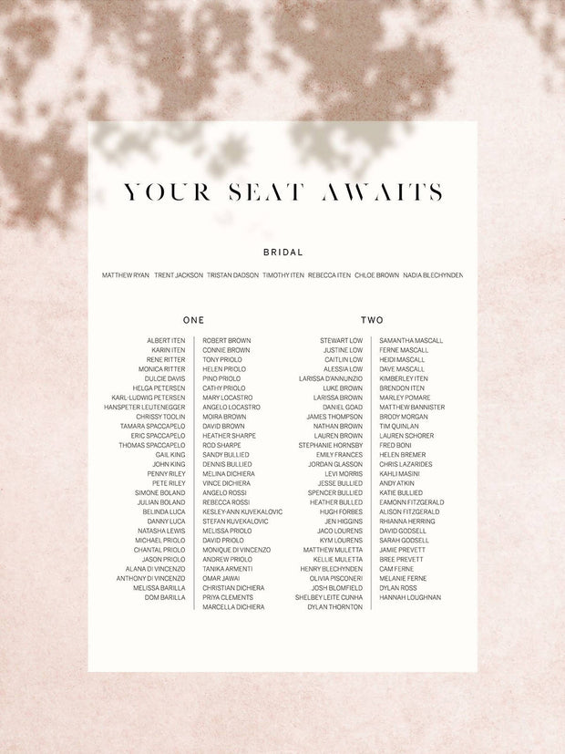 Halcyon Seating Chart