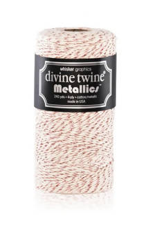 Vintage Rose Metallic Twine
