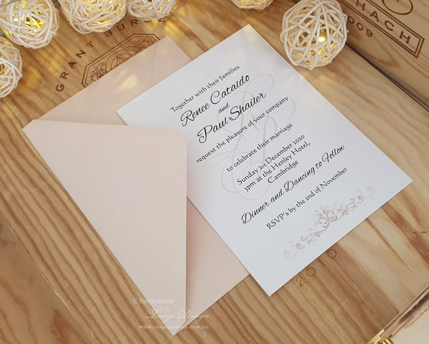 Monogram and initials wedding invitation