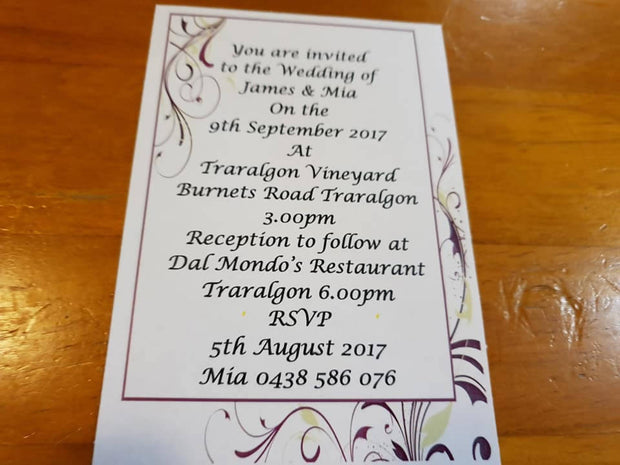 PURPLE FLOURISH INVITATION (Print @ Home)