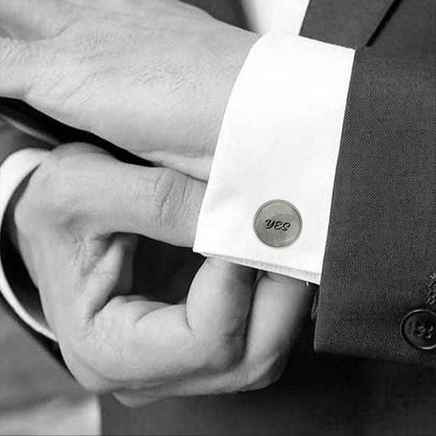 YES and photo, Wedding Gift, Personalised cufflinks, customised cufflinks, MFY73