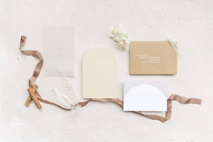 AMANDA | Arch Invitation suite