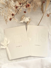 THE HEIRLOOM - HIS & HERS VOW BOOK SET