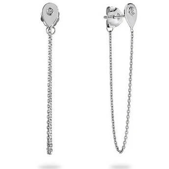 ELIZA DIAMOND CHAIN EARRINGS WHITE GOLD