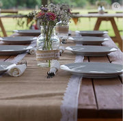 Rustic Wooden Trestle Tables (Seats 8)