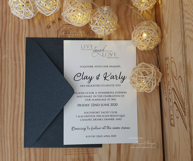 Live, Laugh, Love..Wedding Invitation