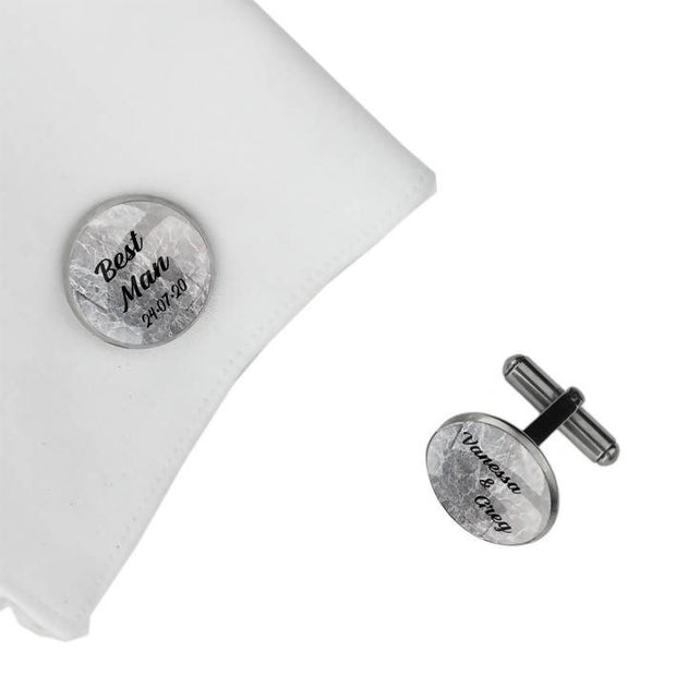 Best man with Names and Date, Wedding Gift, Personalised cufflinks, customised cufflinks, MFY65