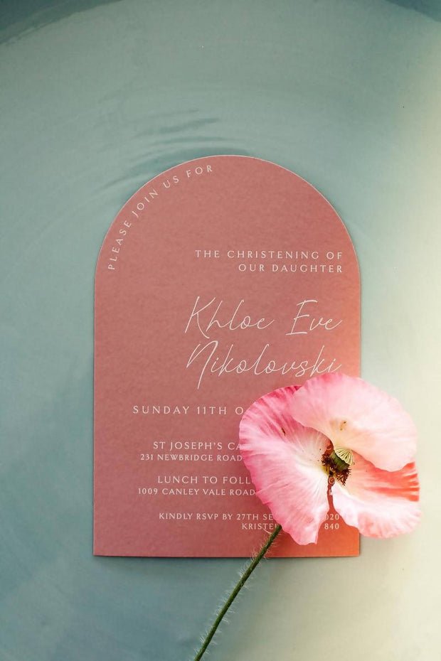 NORA | half Arch invitation