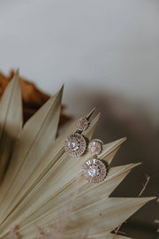 Natalia Diamond Drop Earrings - Rose Gold