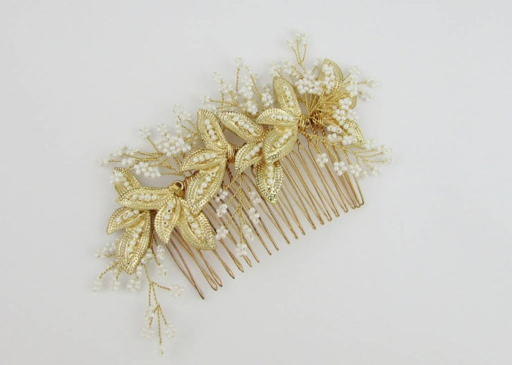 LA FOGLIA GOLD LEAF HAIR COMB
