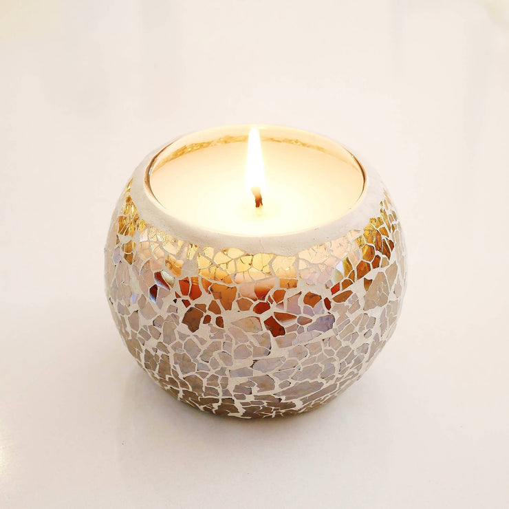 Gold Mosaic Soy Wax Candles