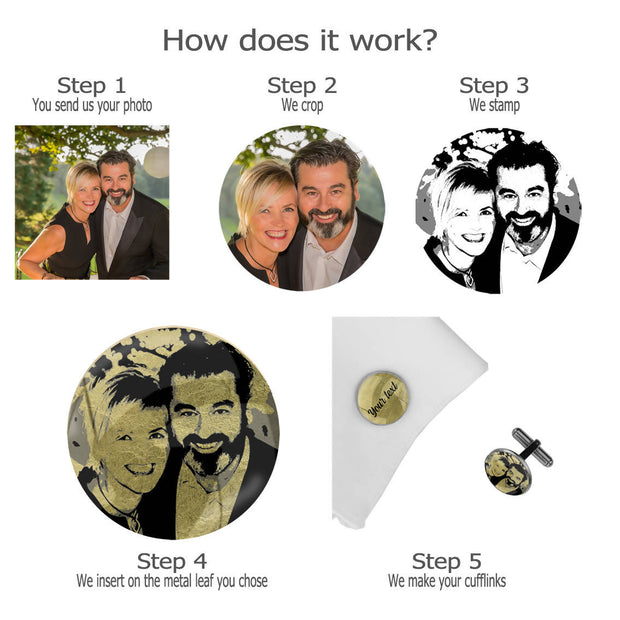 Bride Tribe with Date and photo, Wedding Gift, Personalised cufflinks, customised cufflinks, MFY75