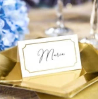 Gold Frame Place Cards | 10Pk