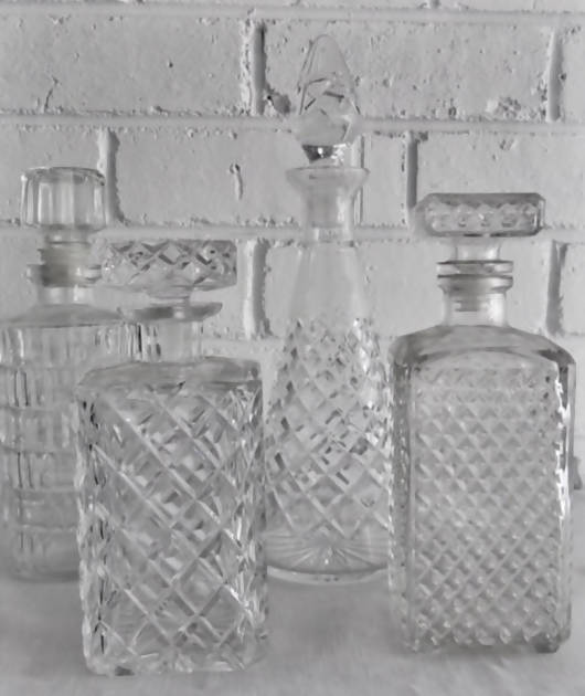 ASSORTED WHISKEY DECANTERS