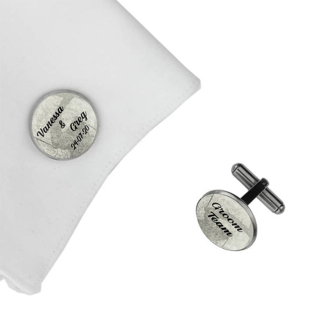 Groom Team with Date and Names, Wedding Gift, Personalised cufflinks, customised cufflinks, MFY80