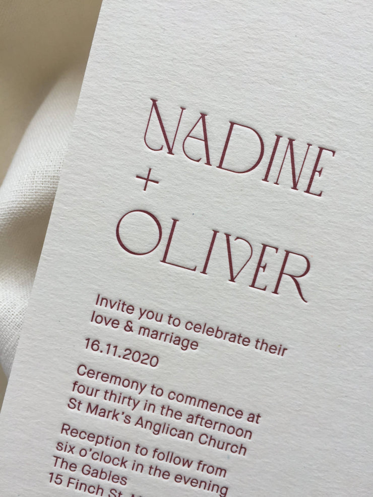 Hoya Invitation - Letterpress