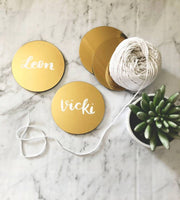 Personalised Gold Mirror Coasters