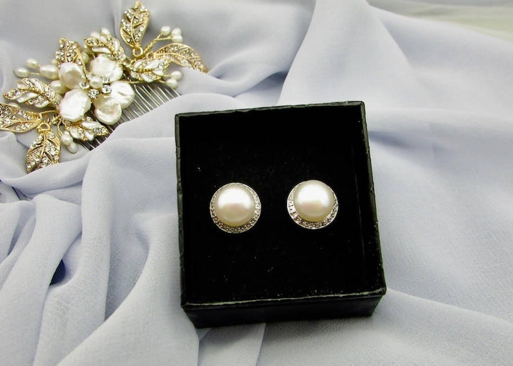 JOSEPHINE PEARL STUD EARRINGS