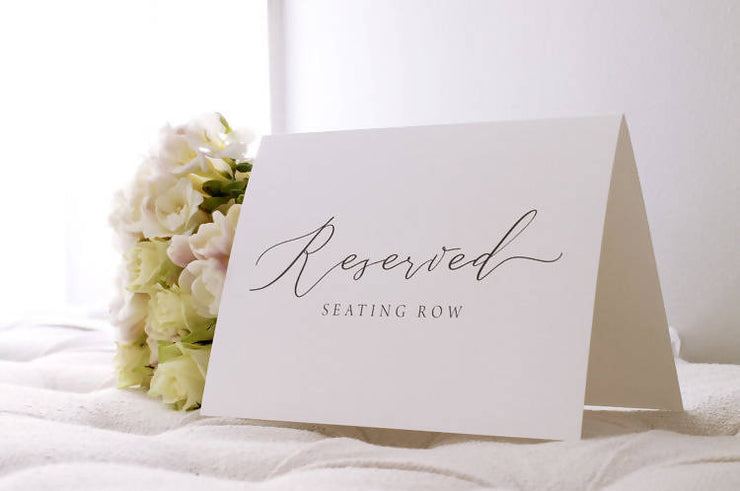 RESERVED SEATING ROW SIGN
