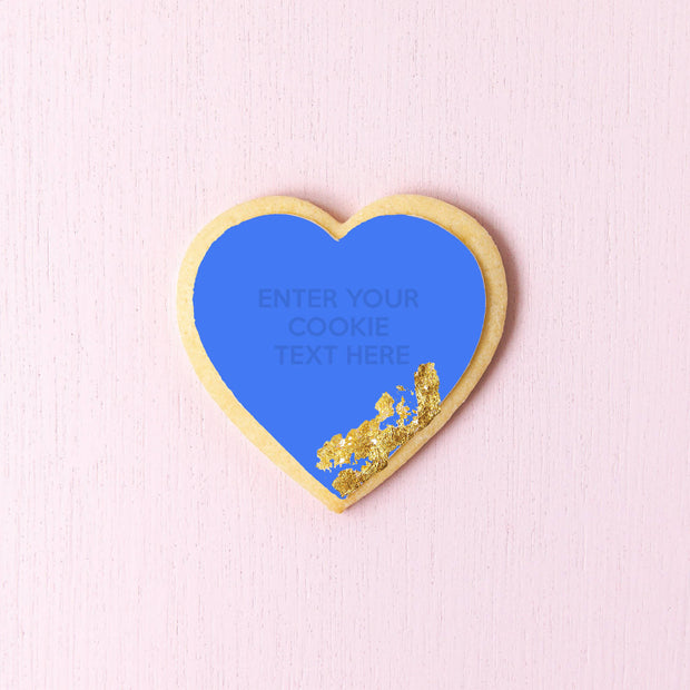 Design your heart shaped cookies with foiling