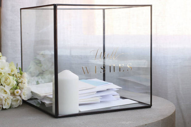 WELL WISHES GLASS OPEN BOX HIRE (MELBOURNE ONLY)