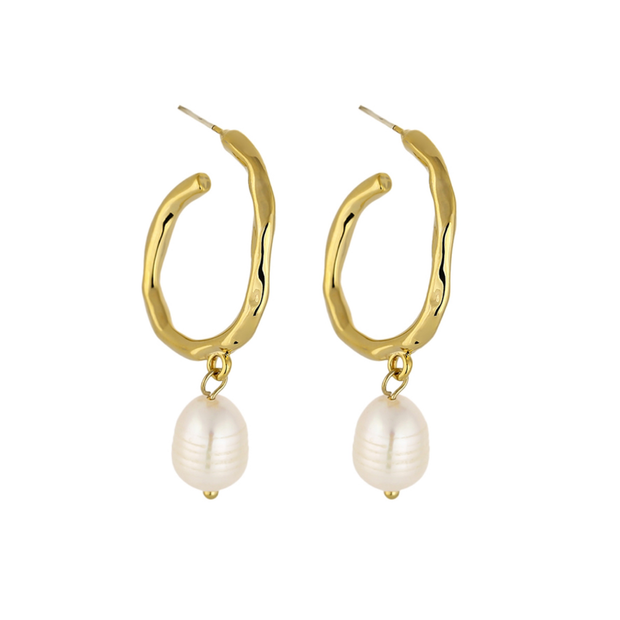 14K Gold Plated - Reliquia Pearl Earrings