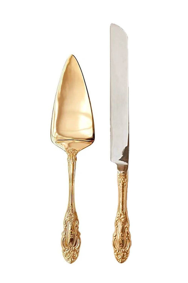 Christina Re gold cake server set