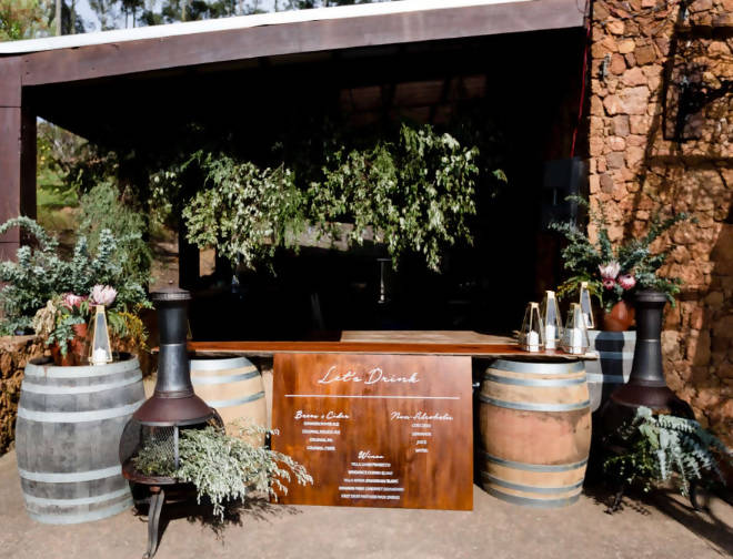 JARRAH BARREL BAR – LONG
