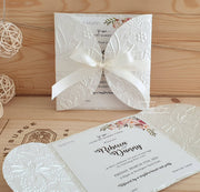 Bouquet Wedding Invitation Petal Fold
