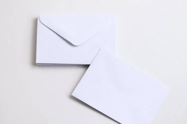 MINI WHITE ENVELOPES (PACK OF 15)