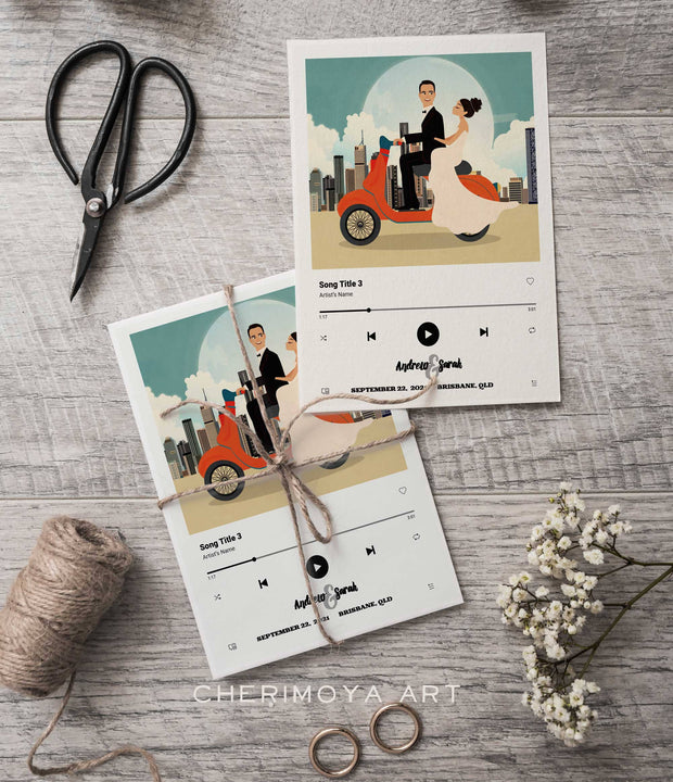 SPOTIFY CUSTOM ILLUSTRATED SAVE THE DATE