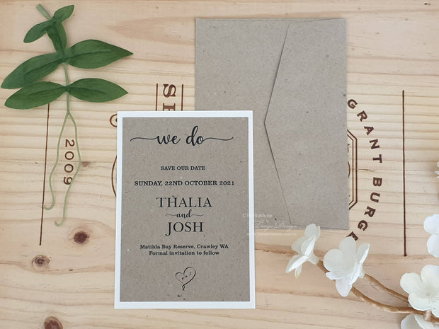 Save the Date Card - with BACKING Card